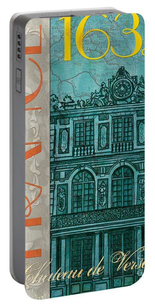 France Portable Battery Charger featuring the painting Chateau De Versailles by Debbie DeWitt