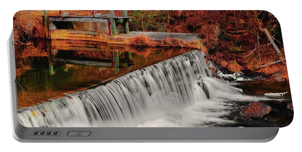 Waterfall Portable Battery Charger featuring the photograph Chattahoochee River Helen Ga 002 by George Bostian