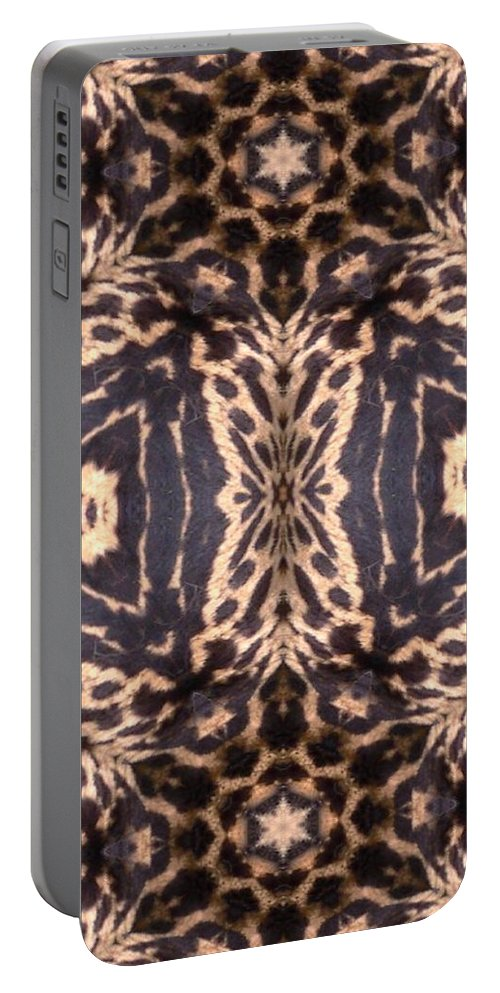 Digital Portable Battery Charger featuring the digital art Cheetah Print by Maria Watt