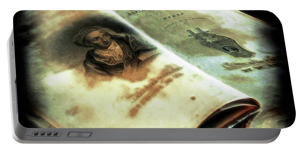 Book Portable Battery Charger featuring the photograph Cherished Old Book by Pennie McCracken