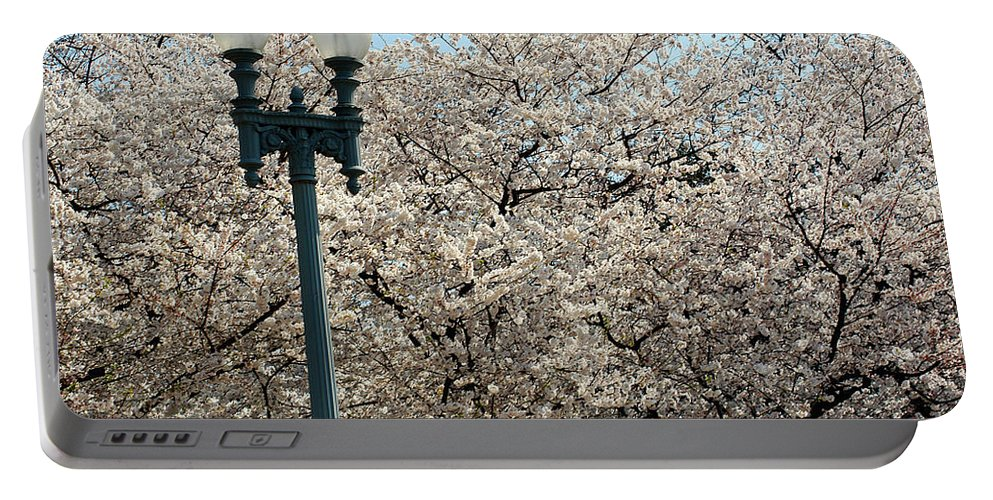 Clay Portable Battery Charger featuring the photograph Cherry Blossom Festival by Clayton Bruster