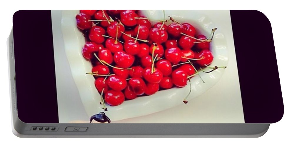Delicioso Portable Battery Charger featuring the photograph #cherry #sumo by Austin Tuxedo Cat