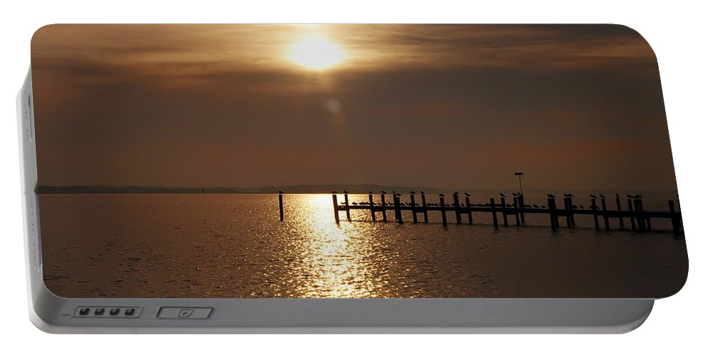 Chesapeake Portable Battery Charger featuring the photograph Chesapeake Morning by Bill Cannon