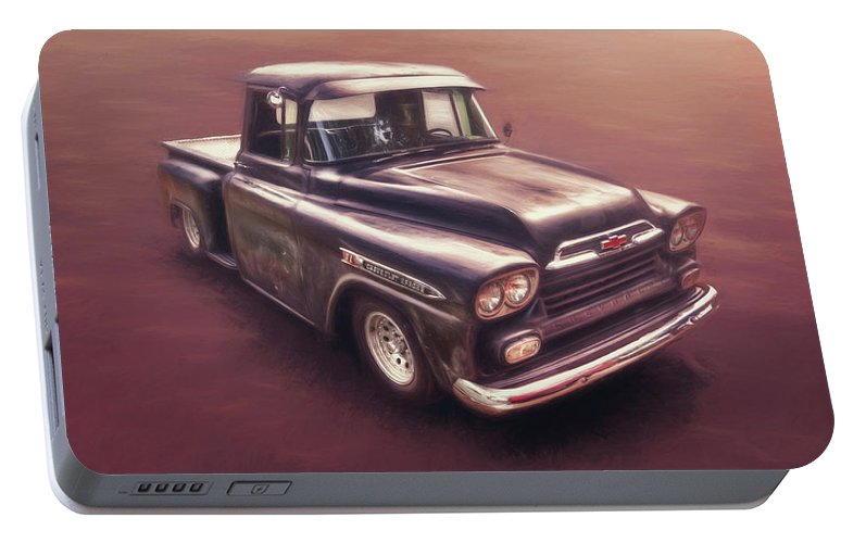 Classic Car Portable Battery Charger featuring the photograph Chevrolet Apache Pickup by Scott Norris
