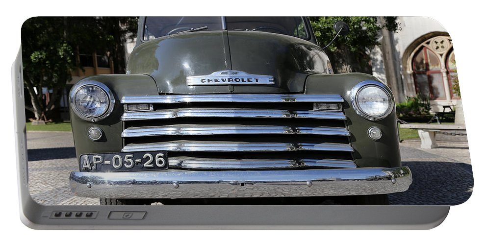 Chevy Portable Battery Charger featuring the photograph Chevrolet Thriftmaster by Andrew Fare