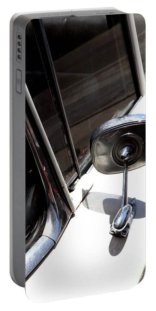 Biscayne Portable Battery Charger featuring the photograph Chevy Looking Back by Amanda Barcon