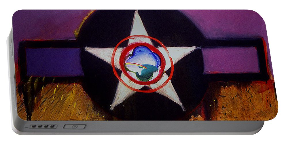 Air Force Insignia Portable Battery Charger featuring the painting Cheyenne Autumn by Charles Stuart