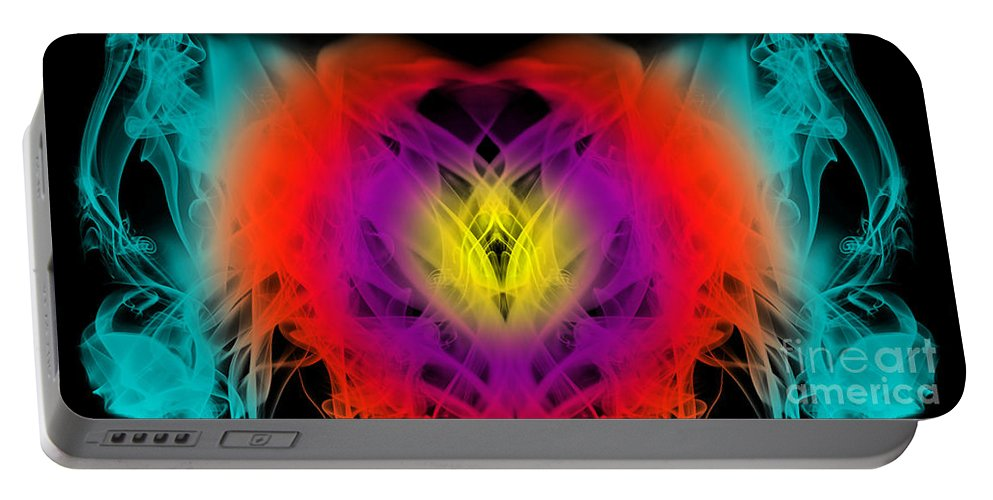 Clay Portable Battery Charger featuring the digital art Chi by Clayton Bruster
