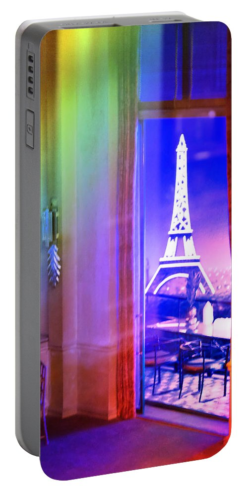 Miniature Portable Battery Charger featuring the photograph Chicago Art Institute Miniature Paris Room Pa Prismatic 08 Vertical by Thomas Woolworth