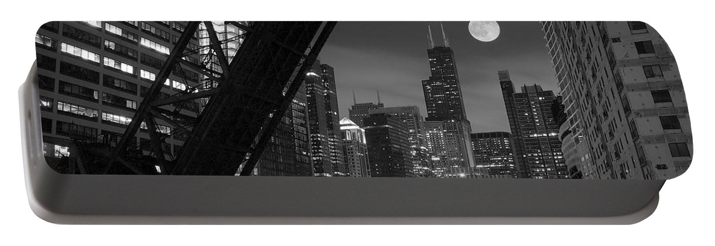 Chicago Portable Battery Charger featuring the photograph Chicago Pride Of Illinois by Frozen in Time Fine Art Photography