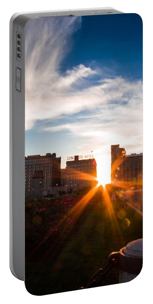 Portable Battery Charger featuring the photograph Chicagohenge 2015 by Sue Conwell
