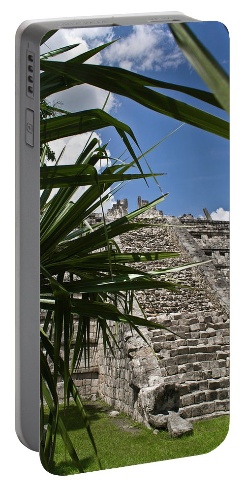Chichen Itza Portable Battery Charger featuring the photograph Chichen Itza 2 by Douglas Barnett
