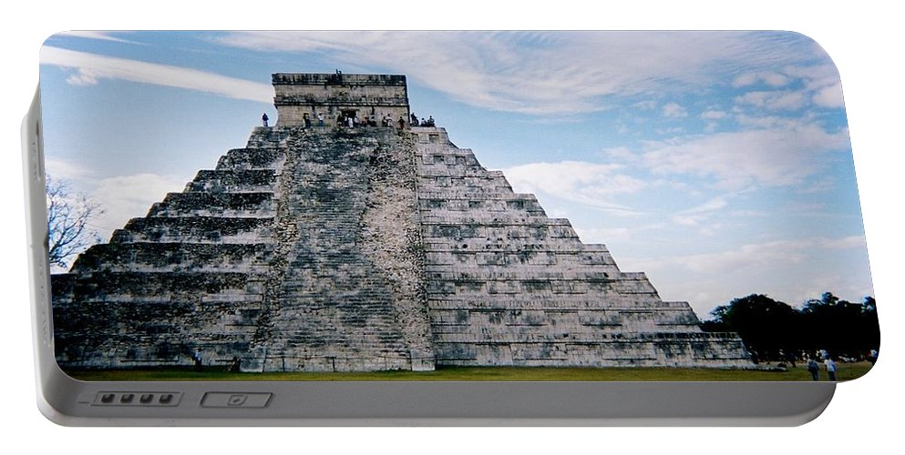 Chitchen Itza Portable Battery Charger featuring the photograph Chichen Itza 4 by Anita Burgermeister
