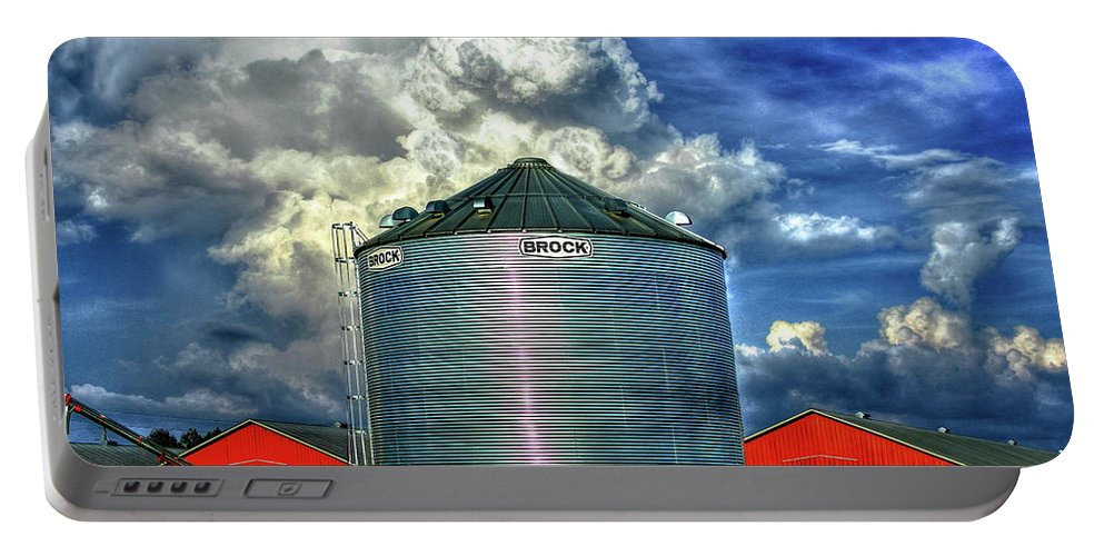 Reid Callaway Sky Portable Battery Charger featuring the photograph Chicken Feed Other Worldly Sky Art by Reid Callaway