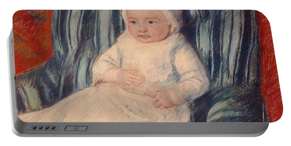 Child Portable Battery Charger featuring the painting Child On A Sofa by Mary Cassatt