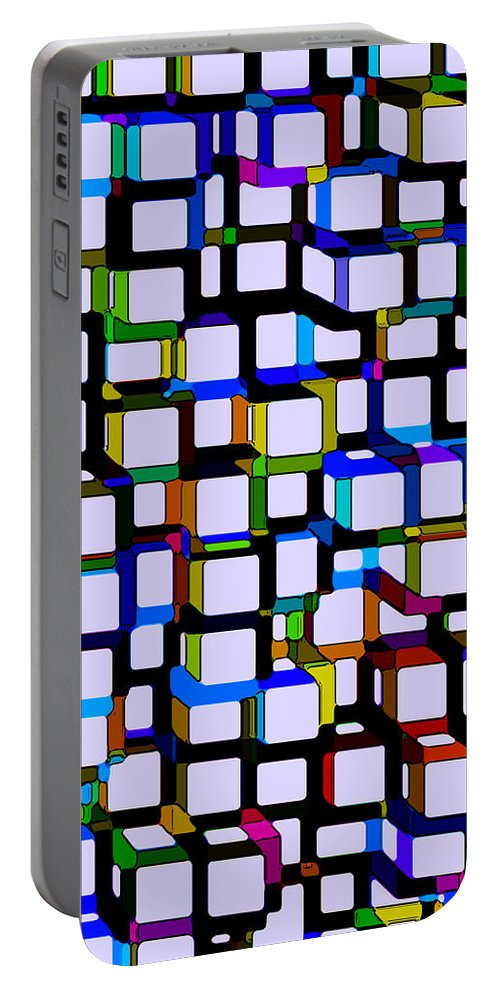 Abstract Portable Battery Charger featuring the digital art Childhood Memories by Ruth Palmer