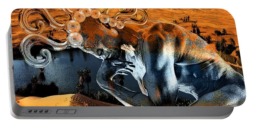 Spirit Portable Battery Charger featuring the digital art Chimera by Marian Voicu
