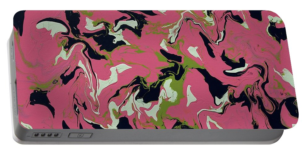 Keith Elliott Portable Battery Charger featuring the painting Chimerical Hallucination - Llfx42 by Keith Elliott