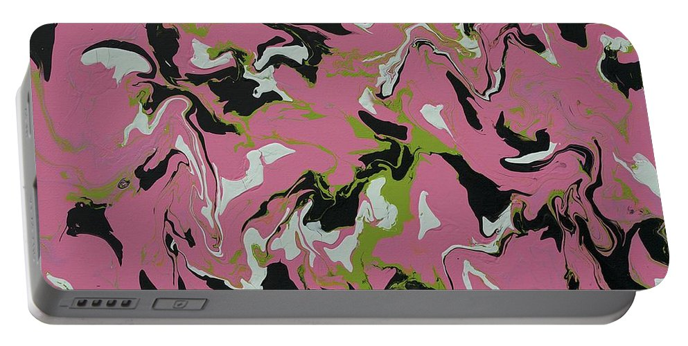 Keith Elliott Portable Battery Charger featuring the painting Chimerical Hallucination - Original by Keith Elliott