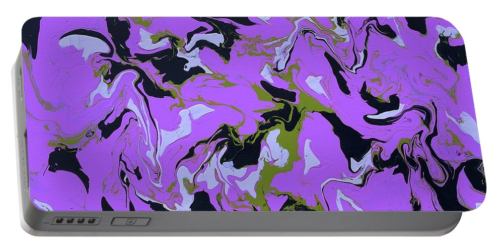 Keith Elliott Portable Battery Charger featuring the painting Chimerical Hallucination - Rse94 by Keith Elliott