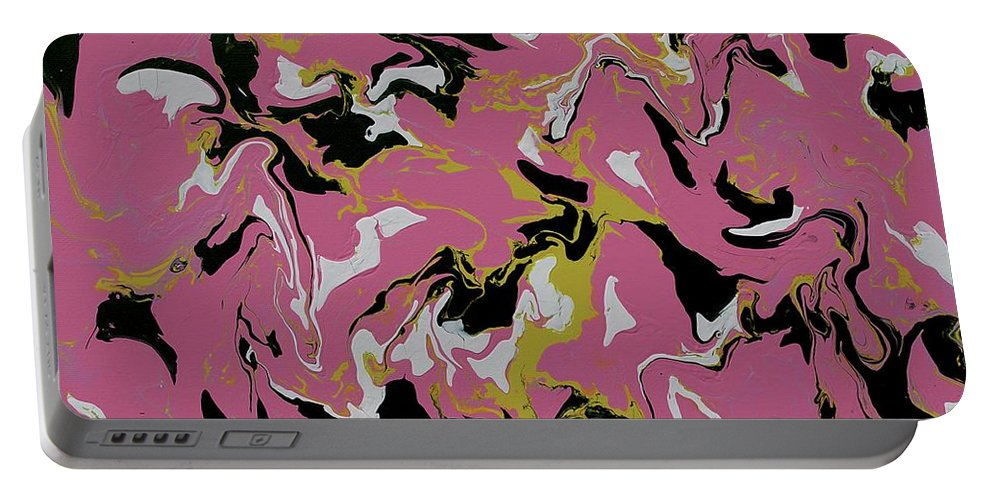 Keith Elliott Portable Battery Charger featuring the painting Chimerical Hallucination - Sb100 by Keith Elliott