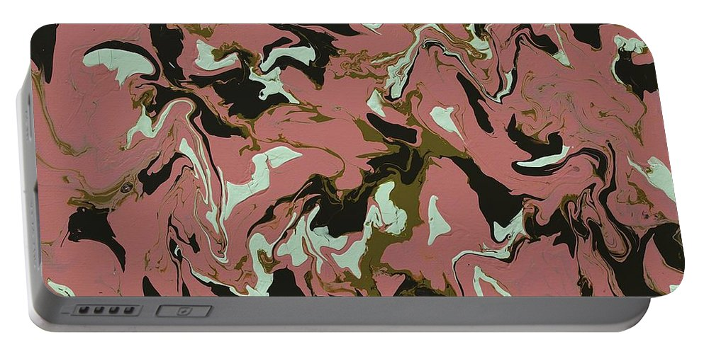Keith Elliott Portable Battery Charger featuring the painting Chimerical Hallucination - Sd100 by Keith Elliott