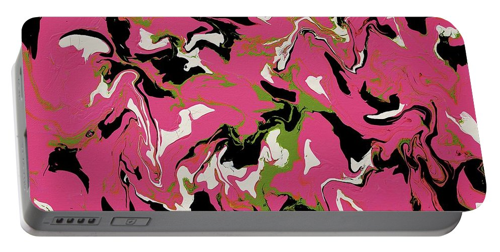 Keith Elliott Portable Battery Charger featuring the painting Chimerical Hallucination - Vhfk100 by Keith Elliott