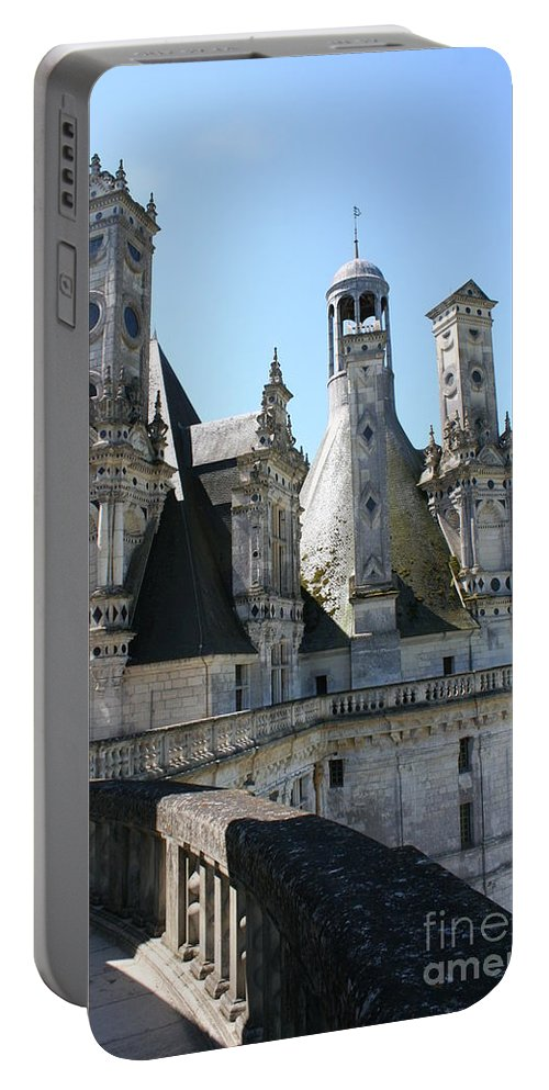 Chimney Portable Battery Charger featuring the photograph Chimney From Chambord - Loire by Christiane Schulze Art And Photography