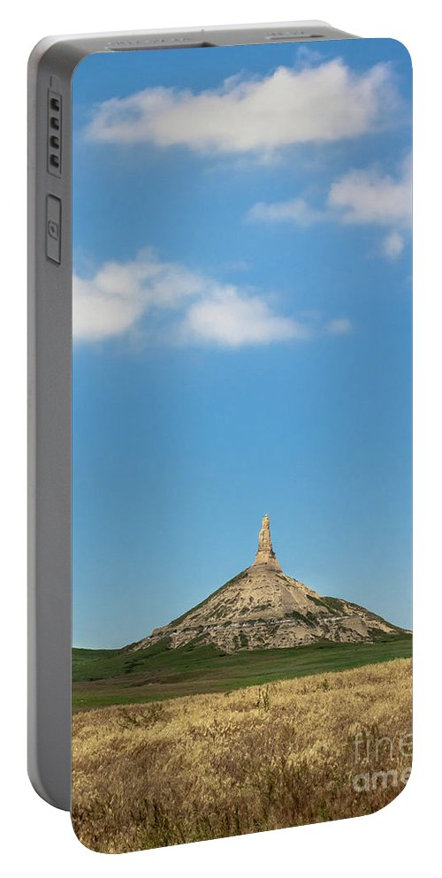 Landscape Portable Battery Charger featuring the photograph Chimney Rock Nebraska by Robert Frederick