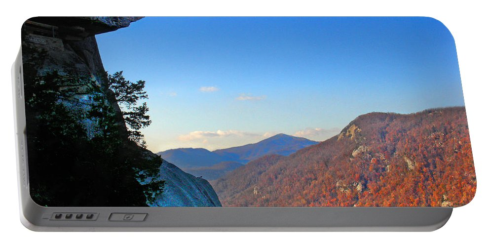 Landscape Portable Battery Charger featuring the photograph Chimney Rock 2 by Steve Karol