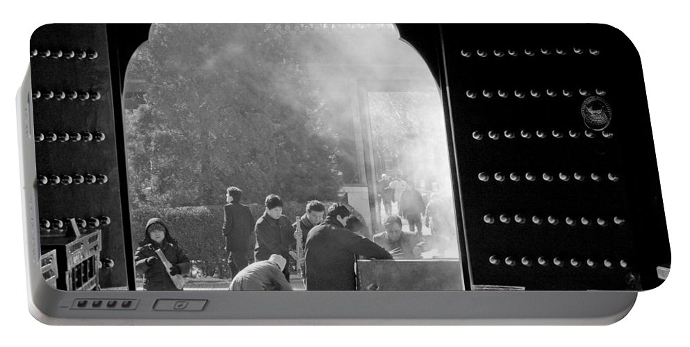 China Portable Battery Charger featuring the photograph China Temple by Sebastian Musial