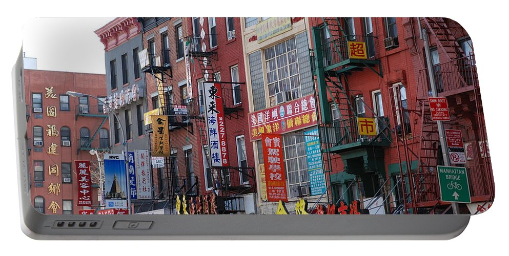 Architecture Portable Battery Charger featuring the photograph China Town Buildings by Rob Hans