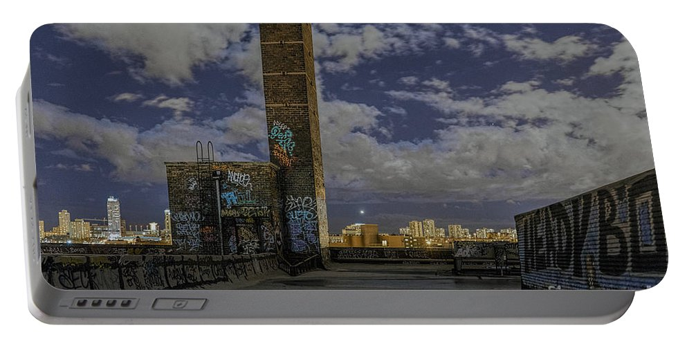 Sony Portable Battery Charger featuring the photograph Chinatown Roof by Steven K Sembach