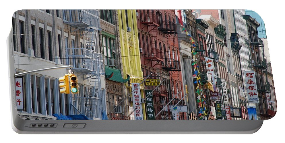 Architecture Portable Battery Charger featuring the photograph Chinatown Walk Ups by Rob Hans