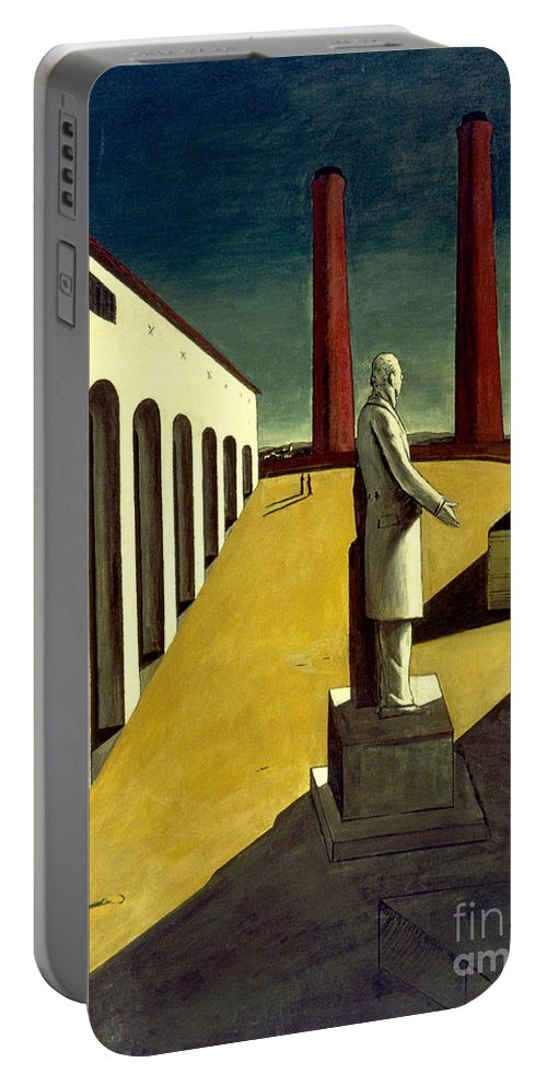 1914 Portable Battery Charger featuring the photograph Chirico: Enigma, 1914 by Granger