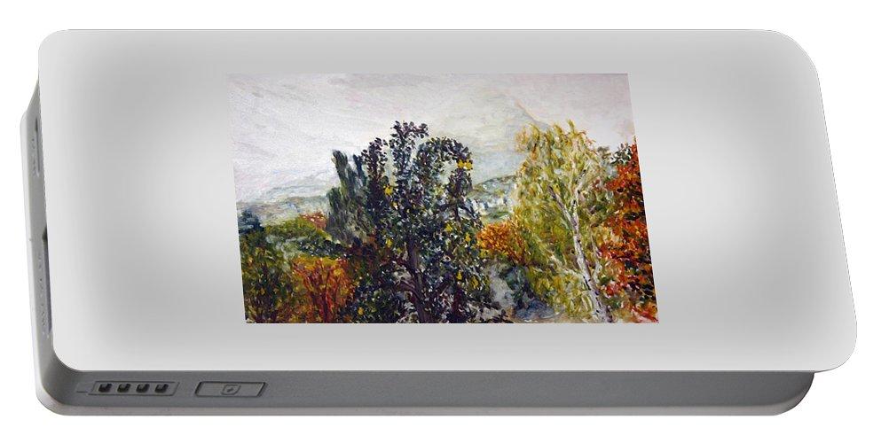 Landscape Portable Battery Charger featuring the painting Chmelak by Pablo de Choros