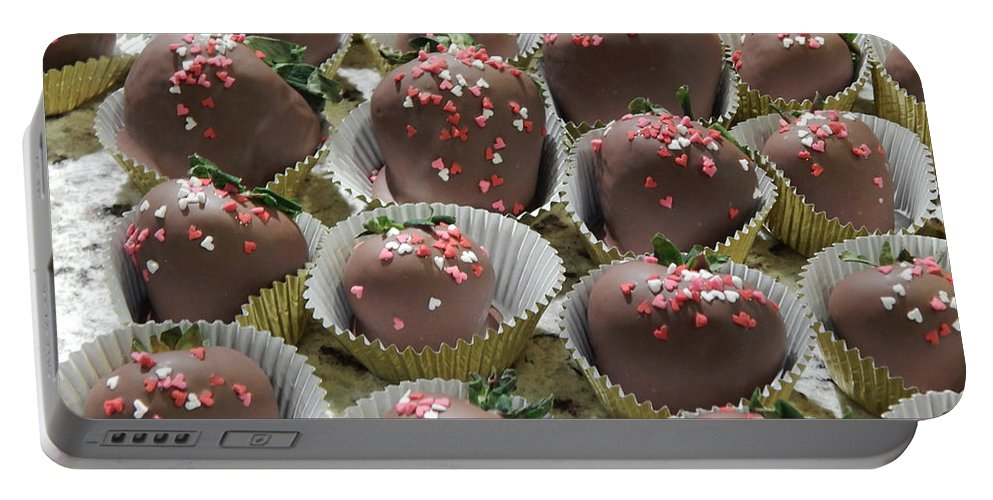 Food Portable Battery Charger featuring the photograph Chocolate Delight by Lisa Cassinari