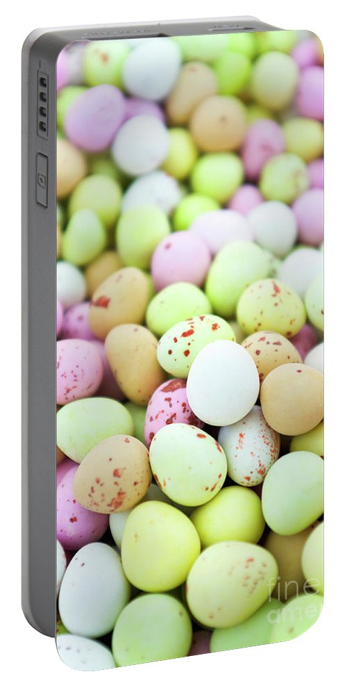 Chocolate Portable Battery Charger featuring the photograph Chocolate Eggs by Simon Bradfield