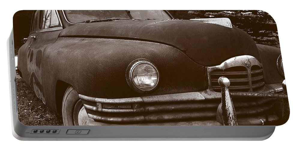 Old Car Portable Battery Charger featuring the photograph Chocolate Moose by Jean Macaluso