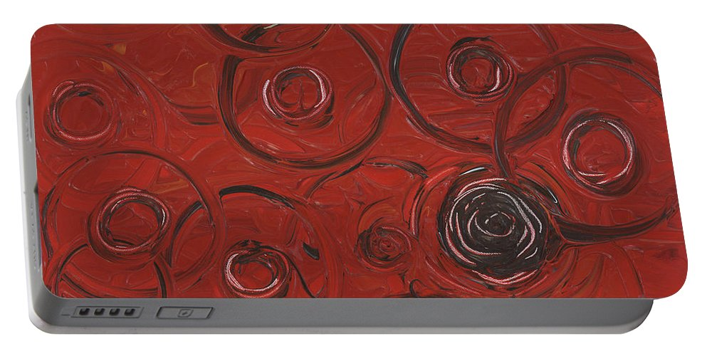 Red Portable Battery Charger featuring the painting Choices In Red by Nadine Rippelmeyer