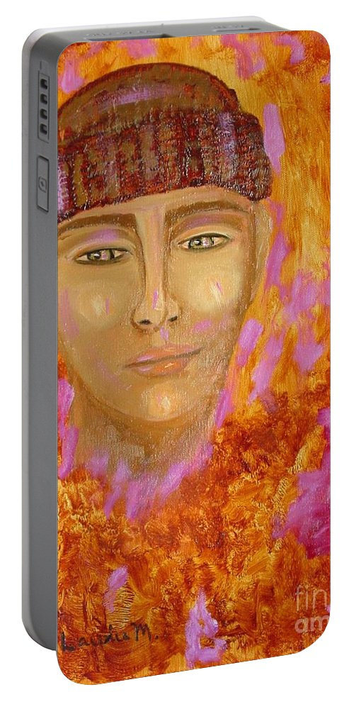 Portrait Portable Battery Charger featuring the painting Choices by Laurie Morgan