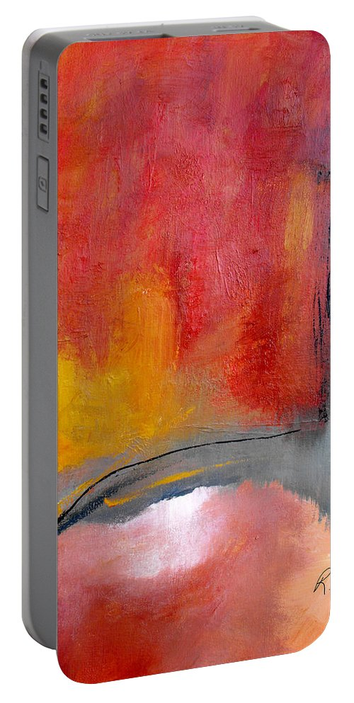 Abstrac Portable Battery Charger featuring the painting Chosen Path by Ruth Palmer