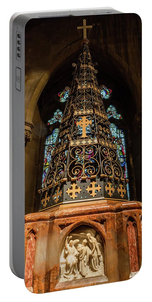6x4 Portable Battery Charger featuring the photograph Christ Church With Saint Mary Font by Jacek Wojnarowski
