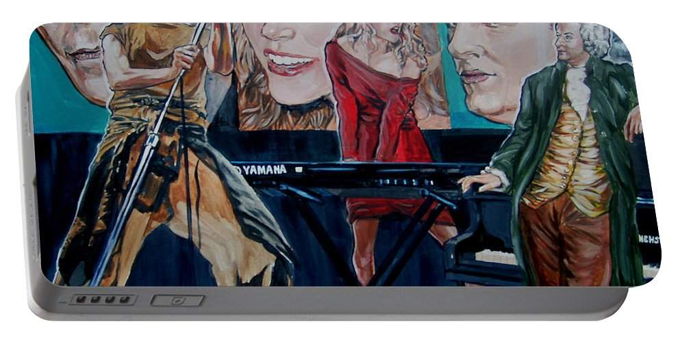 Christine Anderson Portable Battery Charger featuring the painting Christine Anderson Concert Fantasy by Bryan Bustard