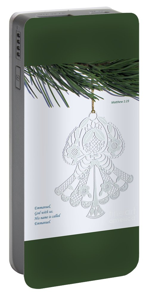 Christmas Portable Battery Charger featuring the photograph Christmas Angel by Ann Horn