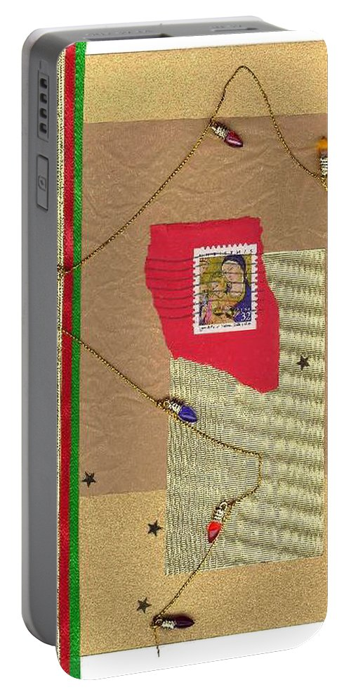 Christmas Portable Battery Charger featuring the mixed media Christmas Card by Steve Karol