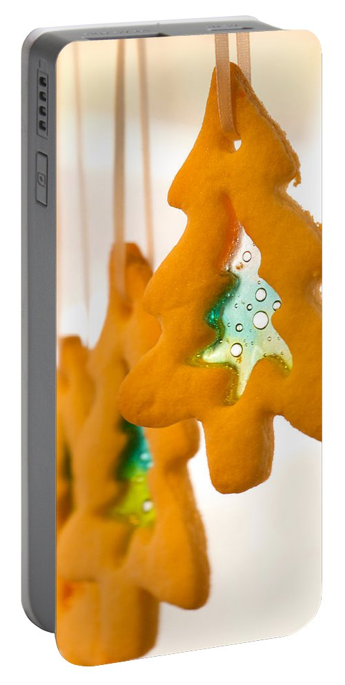Cookie Portable Battery Charger featuring the photograph Christmas Cookies by Lisa Knechtel