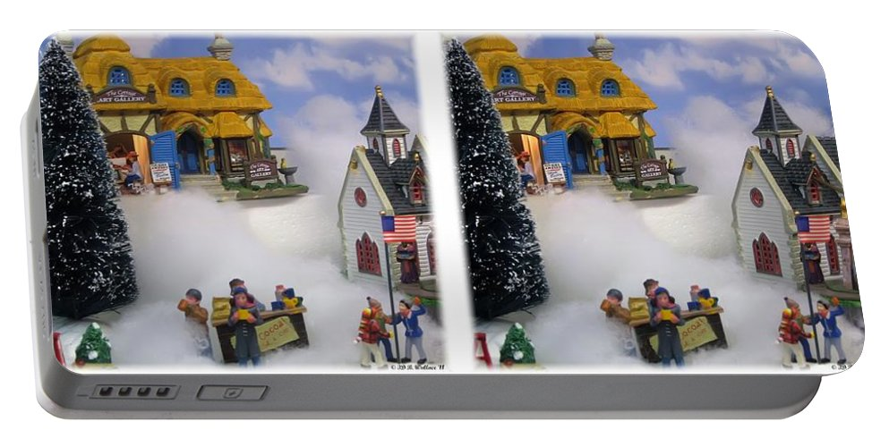 3d Portable Battery Charger featuring the photograph Christmas Display - Gently Cross Your Eyes And Focus On The Middle Image by Brian Wallace