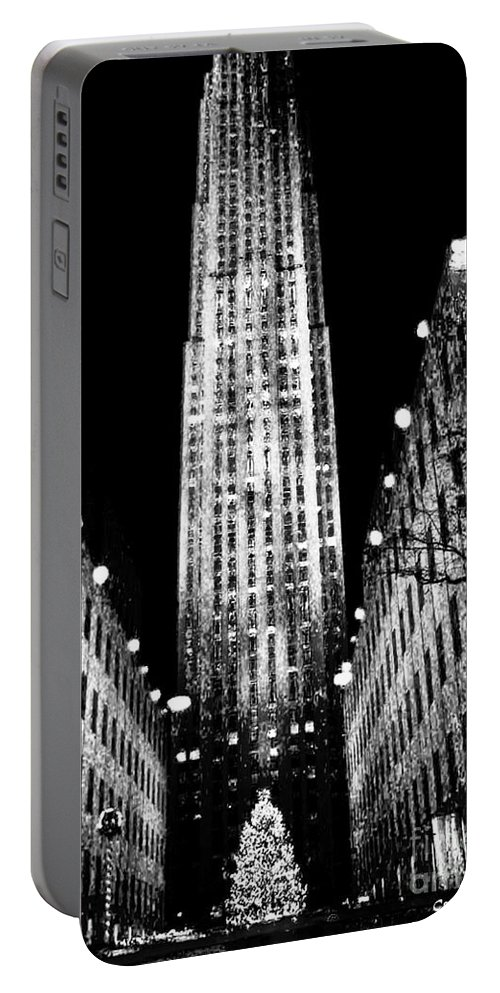 Fine Art Portable Battery Charger featuring the photograph Christmas In New York City by Carol F Austin