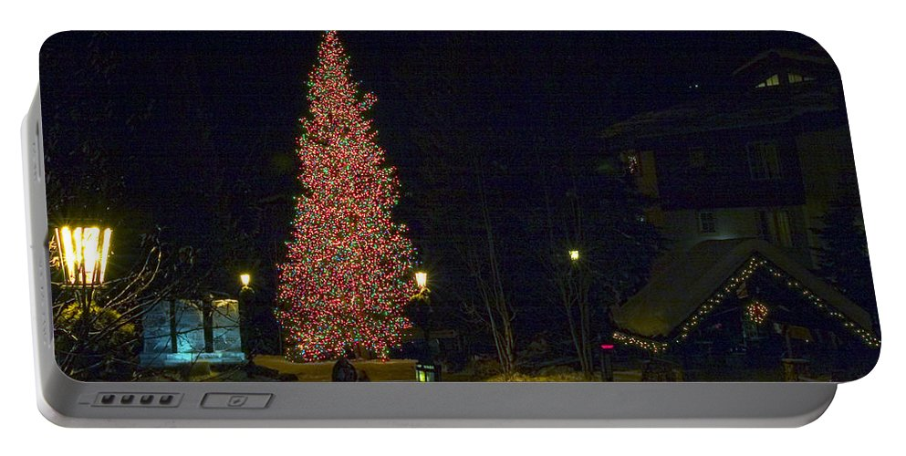 Christmas Landscape Portable Battery Charger featuring the photograph Christmas In Vail by David Salter